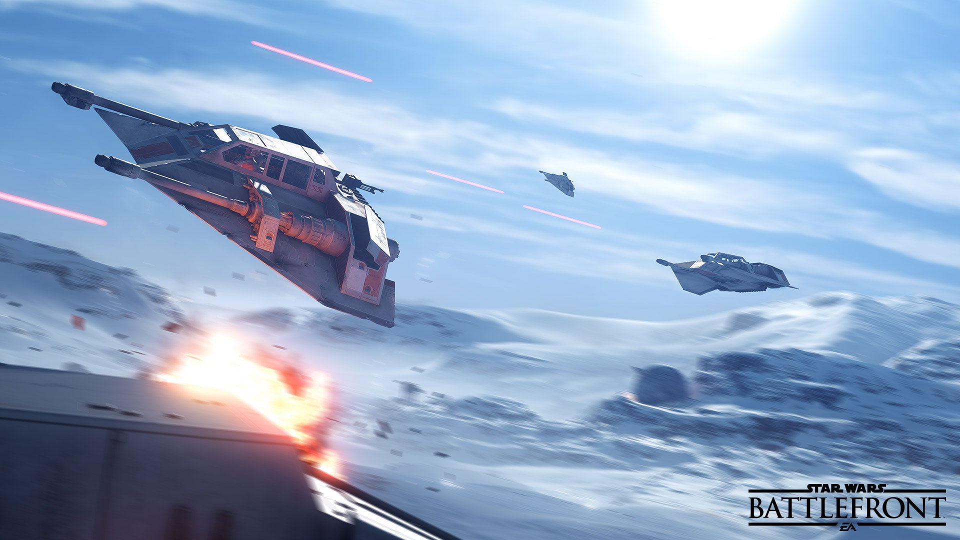 Star Wars Battlefront Snowspeeder